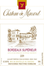 Chateau de Macard Bordeaux Superieur 2009