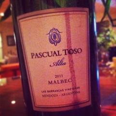 Pascual Toso Alta 2011 Malbec