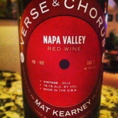 Verse and Chorus Napa Red Wine 2012